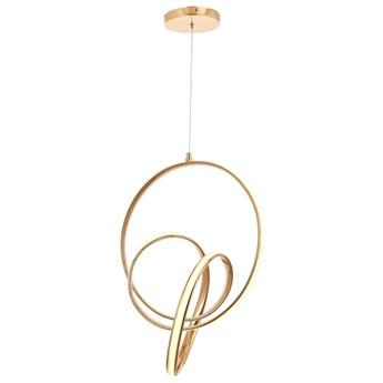 Designerska złota lampa wisząca AV-5260-SB AVONNI sypialnia, salon jadalnia