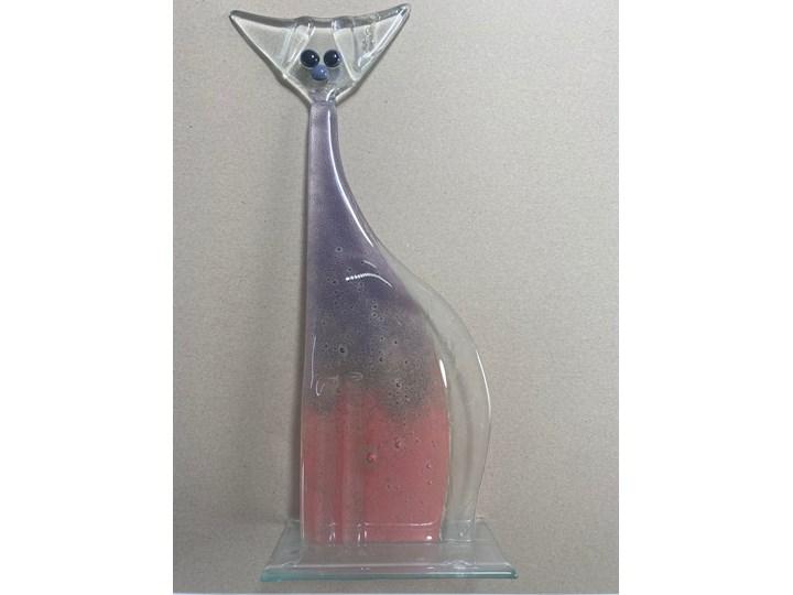 Ozdoba szklana różowy kot z serii Crazy Cats Kolor Szary Zwierzęta Szkło Kategoria Figury i rzeźby