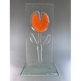 Ozdoba szklana Kwiat - orange duży
