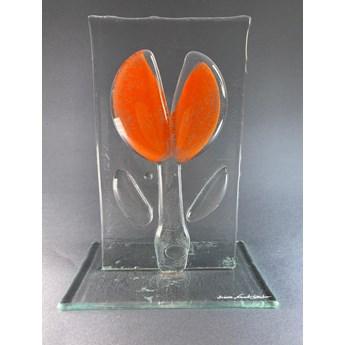 Ozdoba szklana Kwiat pomarańczowy Standing Flower