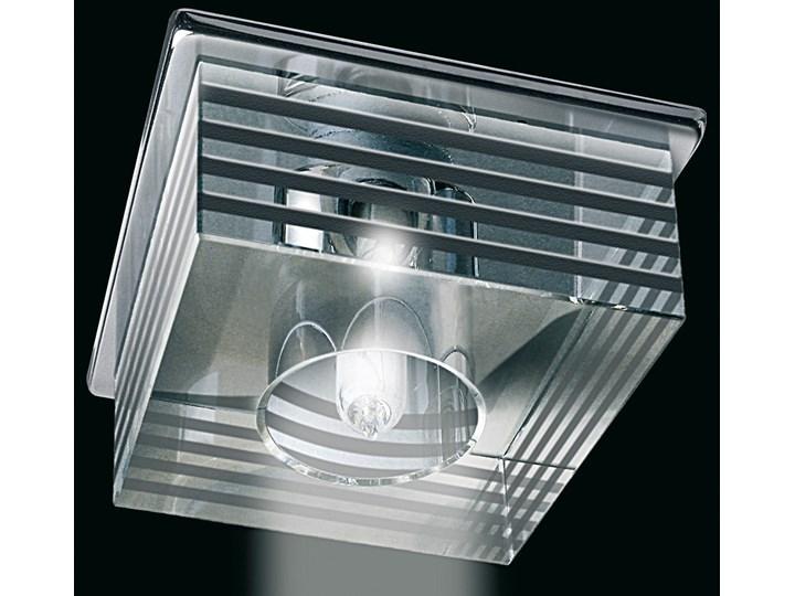 Srebrna lampa sufitowa 1514cr kryształowe oczko gumarcris oprawa podtynkowa salon hol łazienka hotel