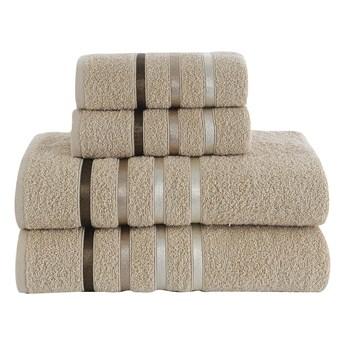 Ręcznik bawełniany frotte BALE/953/beige 2x50x80+2x70x140 kpl.