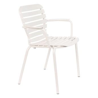 Krzesło ogrodowe Vondel z podłokietnikami białe 65x83x58
