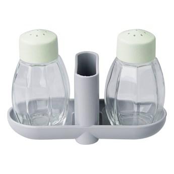 Zestaw solniczka pieprzniczka i pojemnik na wykałaczki