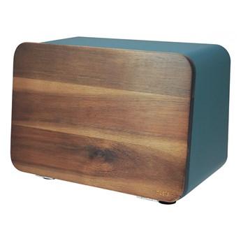 Chlebak ze stali nierdzewnej z pokrywą z drewna akacjowego H73939