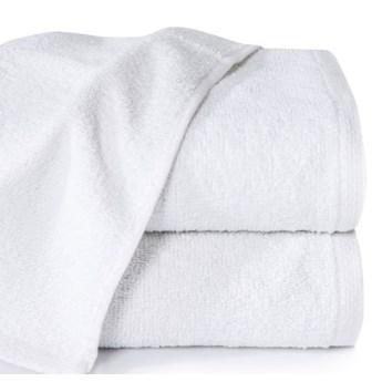 Ręcznik jednokolorowy klasyczny biały o gramaturze 400 g/m2, 70x140 cm
