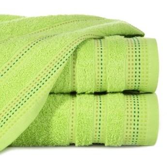 Ręcznik z żakardową bordiurą zdobioną stebnowaniem o gramaturze 500 g/m2, 70x140 cm