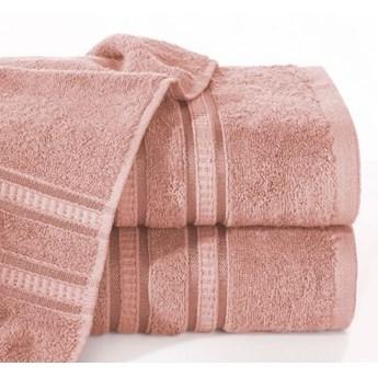 Ręcznik MILA z włókien bambusowych z ozdobną żakardową bordiurą w pasy o gramaturze 500 g/m2, 50x90 cm