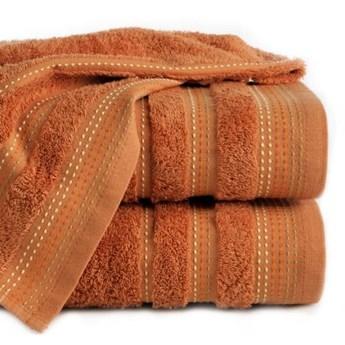 Ręcznik z żakardową bordiurą zdobioną stebnowaniem o gramaturze 500 g/m2, 50x90 cm