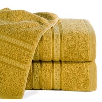 Ręcznik MILA z włókien bambusowych z ozdobną żakardową bordiurą w pasy o gramaturze 500 g/m2,  70x140 cm
