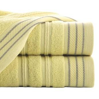 Ręcznik z bordiurą przetykaną błyszczącą nicią o gramaturze 480 g/m2, 70x140 cm