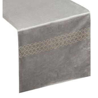 Bieżnik welwetowy zdobiony dżetami, 35x180 cm