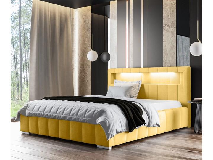 SELSEY Łóżko Foenum z pojemnikiem na pościel Tkanina Kategoria Łóżka do sypialni Welur Drewno Łóżko tapicerowane Styl Glamour