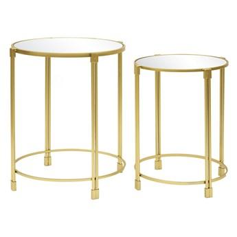 Stoliki złote z lustrzanym blatem kpl. 2 szt