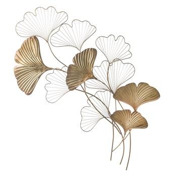 Dekoracja ścienna złota liście miłorzębu