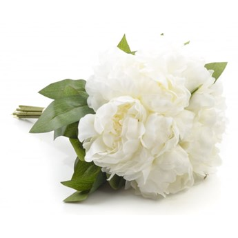 Kwiaty PIWONII bukiet biały