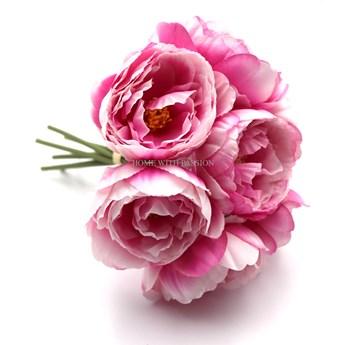 Kwiat PEONII bukiet różowy