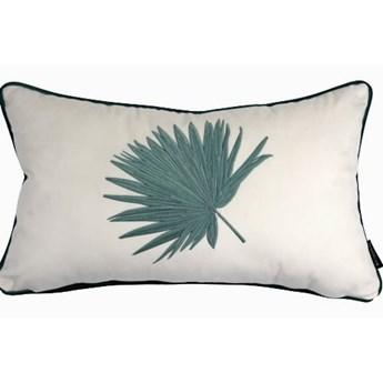 Poduszka dekoracyjna z haftem liścia 30x50 cm