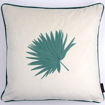 Poduszka dekoracyjna z haftem liścia 45x45 cm