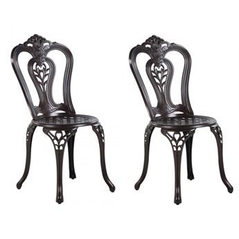 Zestaw 2 krzeseł ogrodowych brązowy BOVINO kod: 4251682261135