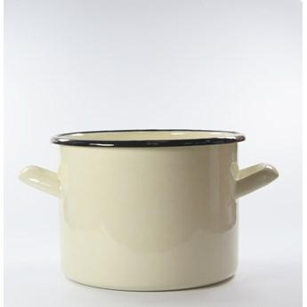 Garnek emaliowany kremowy 2,4 litra