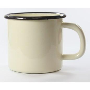 Kubek emaliowany 0,8 litra kremowy