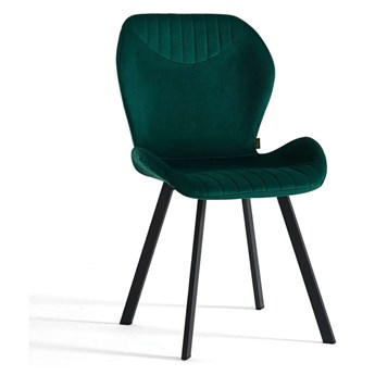 Krzesło tapicerowane butelkowa zieleń DC-6350 / welur 56