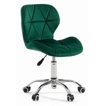 Krzesło obrotowe zielone ART118S / welur #56
