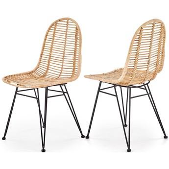 K337 krzesło rattan naturalny Halmar
