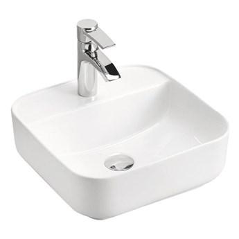 Biała ceramiczna umywalka nablatowa - Rafina 3X