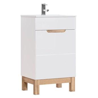 Szafka z umywalką Marsylia 5S 50 cm - Biały połysk