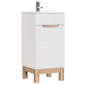 Szafka z umywalką Marsylia 4S 40 cm- Biały połysk