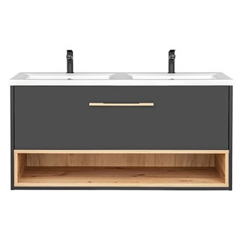 Podwieszana szafka łazienkowa z umywalką - Ketris 2S 120 cm