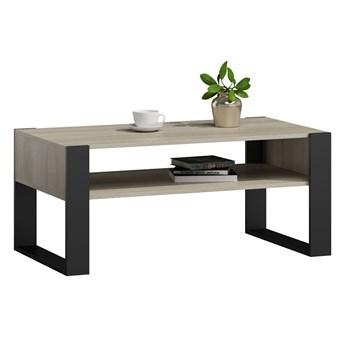 Prostokątny stolik kawowy czarny/dąb sonoma - Lazira