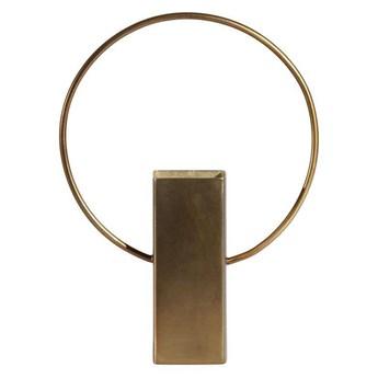 Be Pure :: Dekoracja stojąca Ring antyczny mosiądz wys. 25 cm