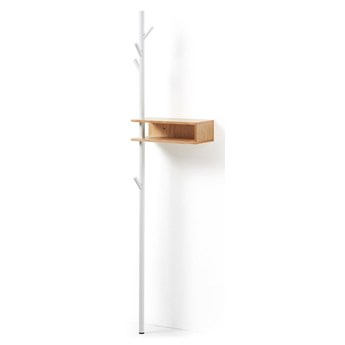 Drewniany wieszak Badaro 40x20 cm biały