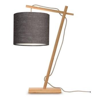 GOOD&MOJO :: Lampa biurkowa Anders grafitowa / podstawa brązowa wys. 46 cm