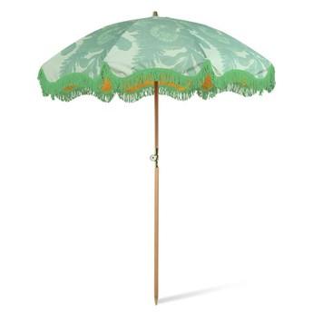 HKliving :: Parasol plażowy z motywem roślinnym zielony śr. 200 cm
