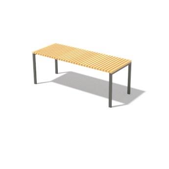 Egoe :: Stolik / ławka ogrodowa Axis brązowa szer. 111,5 cm