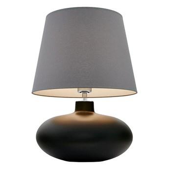 Kaspa :: Lampa stołowa Sawa szaro-biały abażur podstawa grafitowa