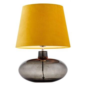 Kaspa :: Lampa stołowa Sawa Velvet żółta chrom dymny
