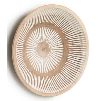 Dekoracja ścienna Sera brązowa z białymi paskami śr. 49 cm