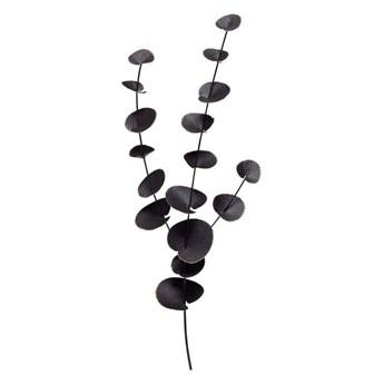 Be Pure :: Dekoracja ścienna Eucalyptus metalowa czarna wys. 91 cm