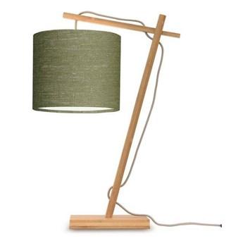 GOOD&MOJO :: Lampa biurkowa Anders zielona / podstawa brązowa wys. 46 cm