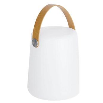Lampa stołowa Kiala z brązowym flexem wys. 28 cm