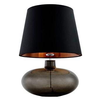 Kaspa :: Lampa stołowa Sawa czarno-miedziany abażur podstawa dymna czerń