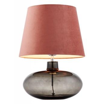 Kaspa :: Lampa stołowa Sawa Velvet różowa chrom dymny