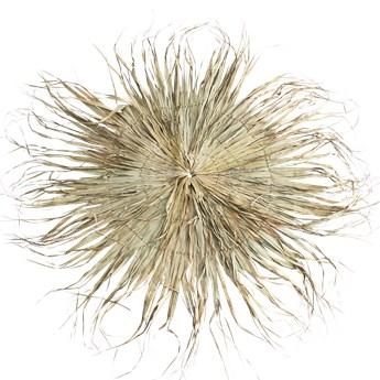 Madam Stoltz :: Dekoracja ścienna z liści palmowych okrągła brązowa śr. 180 cm