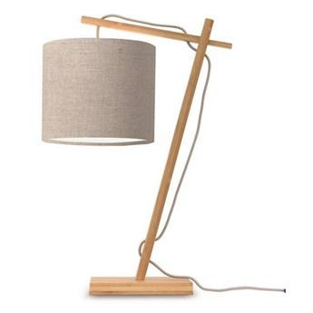 GOOD&MOJO :: Lampa biurkowa Anders ciemnoszara / podstawa brązowa wys. 46 cm