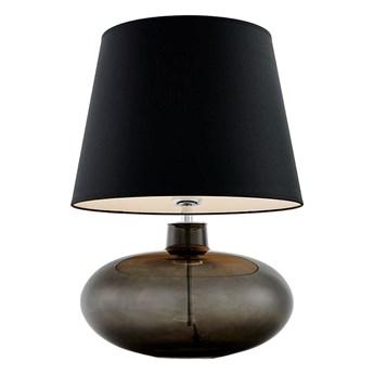 Kaspa :: Lampa stołowa Sawa czarno-biały abażur podstawa dymna czerń